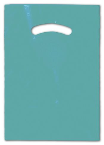 Teal Die-Cut Handle Bag, 9 x 12