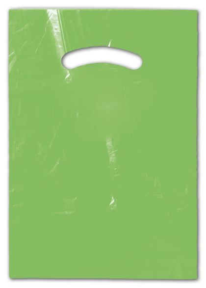 Citrus Green Die-Cut Handle Bag, 9 x 12""