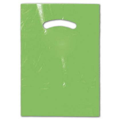 Citrus Green Die-Cut Handle Bag, 9 x 12