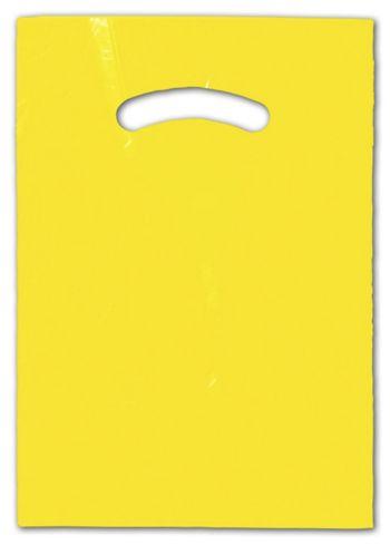 Yellow Die-Cut Handle Bag, 9 x 12