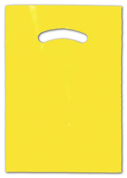 Yellow Die-Cut Handle Bag, 9 x 12""
