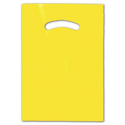 Yellow Die-Cut Handle Bag, 9 x 12