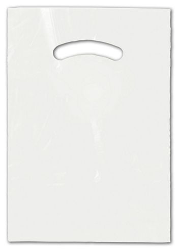 White Die-Cut Handle Bag, 9 x 12