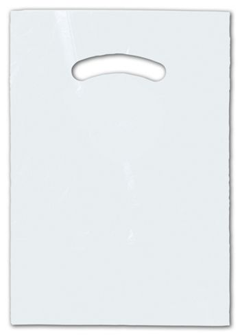 Clear Die-Cut Handle Bag, 9 x 12