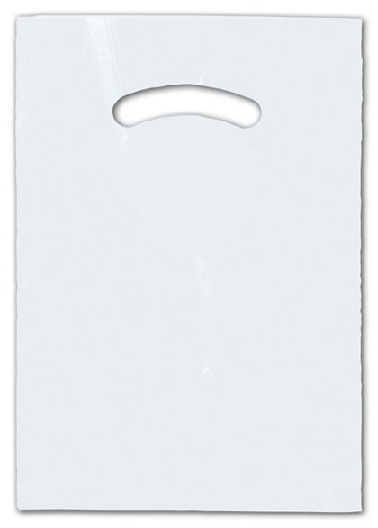 Clear Die-Cut Handle Bag, 9 x 12""