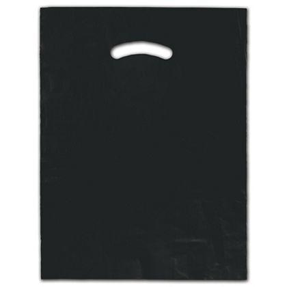 """Black Die-Cut Handle Bag, 12 x 15"""""""
