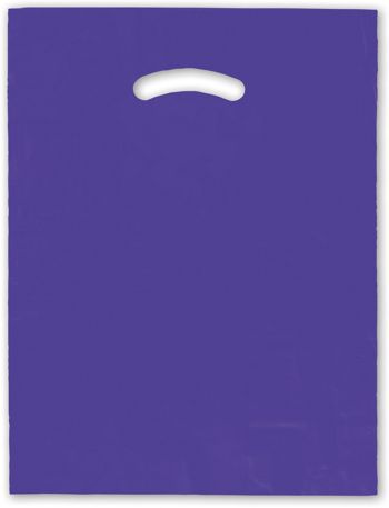 Purple Die-Cut Handle Bag, 12 x 15