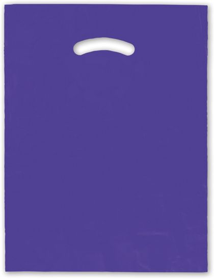 Purple Die-Cut Handle Bag, 12 x 15""