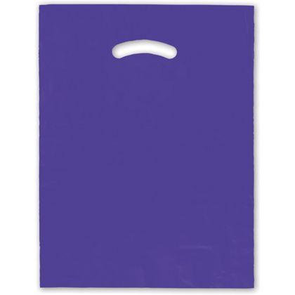 """Purple Die-Cut Handle Bag, 12 x 15"""""""