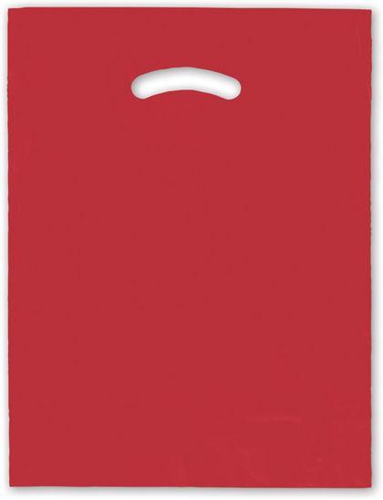 """Red Die-Cut Handle Bag, 12 x 15"""""""