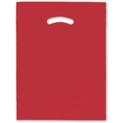 Red Die-Cut Handle Bag, 12 x 15