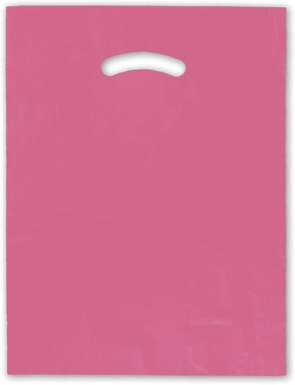 """Hot Pink Die-Cut Handle Bag, 12 x 15"""""""