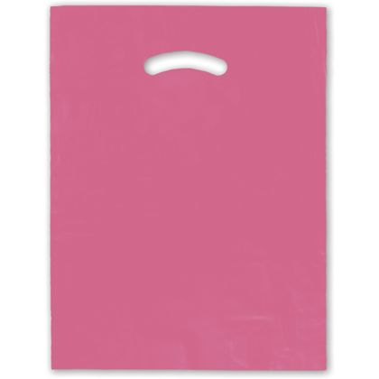 Hot Pink Die-Cut Handle Bag, 12 x 15