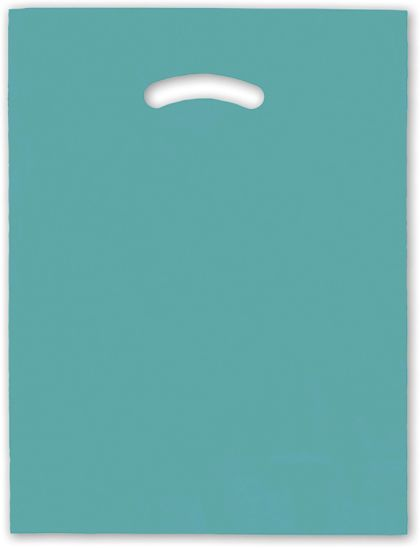 Teal Die-Cut Handle Bag, 12 x 15""