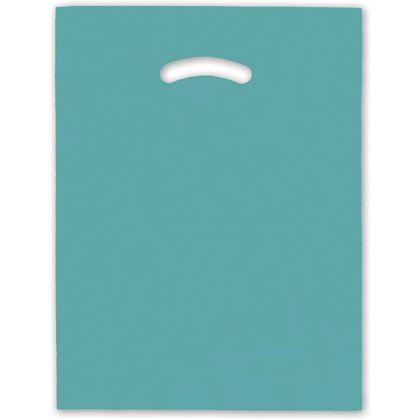 Teal Die-Cut Handle Bag, 12 x 15