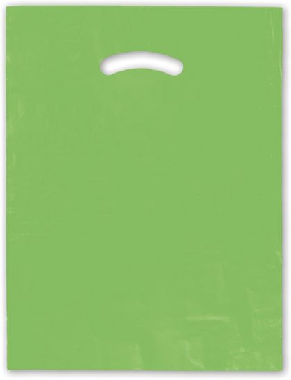 Citrus Green Die-Cut Handle Bag, 12 x 15""