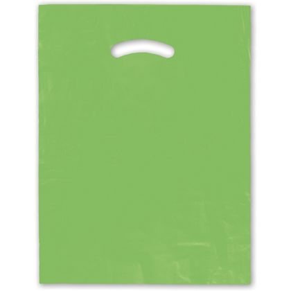 Citrus Green Die-Cut Handle Bag, 12 x 15