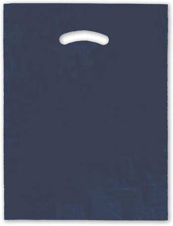 Navy Blue Die-Cut Handle Bag, 12 x 15