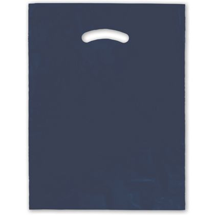 Navy Blue Die-Cut Handle Bag, 12 x 15""
