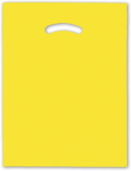 """Yellow Die-Cut Handle Bag, 12 x 15"""""""