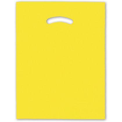 Yellow Die-Cut Handle Bag, 12 x 15
