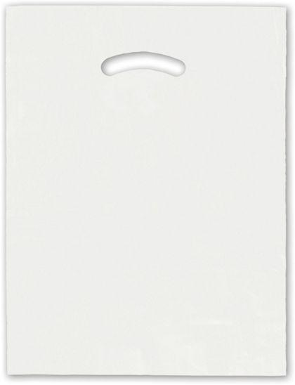 """White Die-Cut Handle Bag, 12 x 15"""""""