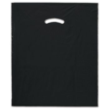 Black Die-Cut Handle Bag, 15 x 18