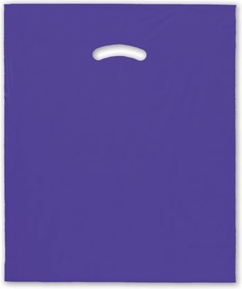 Purple Die-Cut Handle Bag, 15 x 18