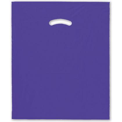 Purple Die-Cut Handle Bag, 15 x 18
