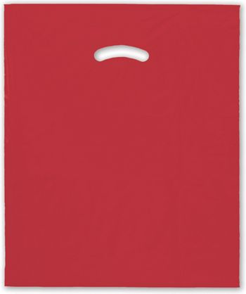 Red Die-Cut Handle Bag, 15 x 18