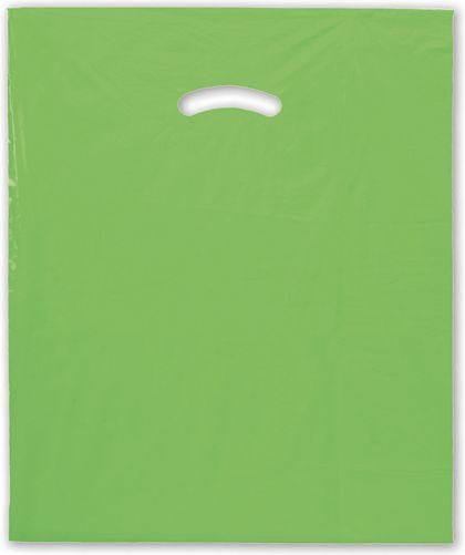 "Citrus Green Die-Cut Handle Bag, 15 x 18"" + 4"" BG"
