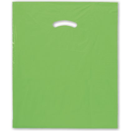 Citrus Green Die-Cut Handle Bag, 15 x 18