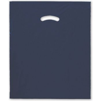 Navy Blue Die-Cut Handle Bag, 15 x 18