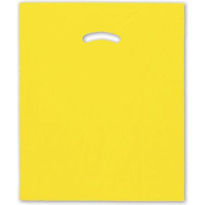 Yellow Die-Cut Handle Bag, 15 x 18