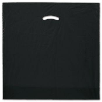 """Black Die-Cut Handle Bag, 20 x 20"""" + 5"""" BG"""