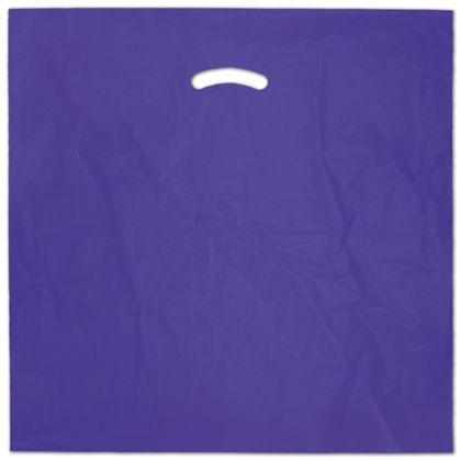 """Purple Die-Cut Handle Bag, 20 x 20"""" + 5"""" BG"""