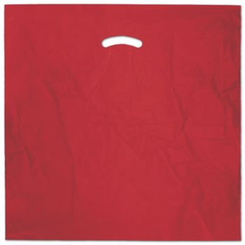 Red Die-Cut Handle Bag, 20 x 20