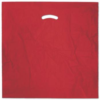 """Red Die-Cut Handle Bag, 20 x 20"""" + 5"""" BG"""