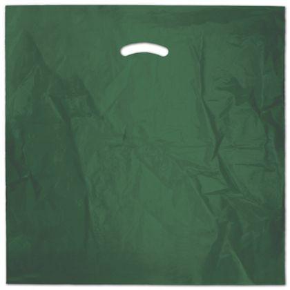Dark Green Die-Cut Handle Bag, 20 x 20
