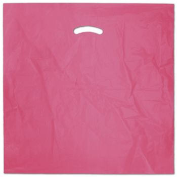 Hot Pink Die-Cut Handle Bag, 20 x 20
