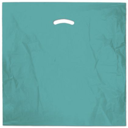 "Teal Die-Cut Handle Bag, 20 x 20"" + 5"" BG"