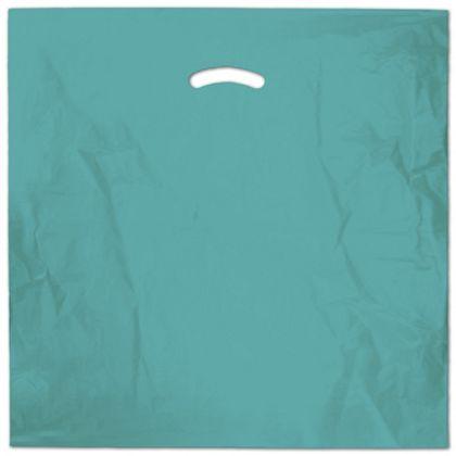 """Teal Die-Cut Handle Bag, 20 x 20"""" + 5"""" BG"""
