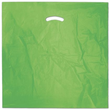 "Citrus Green Die-Cut Handle Bag, 20 x 20"" + 5"" BG"