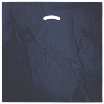 Navy Blue Die-Cut Handle Bag, 20 x 20