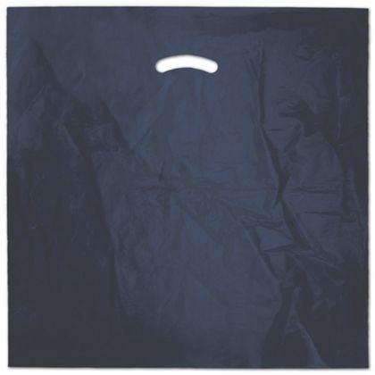 """Navy Blue Die-Cut Handle Bag, 20 x 20"""" + 5"""" BG"""