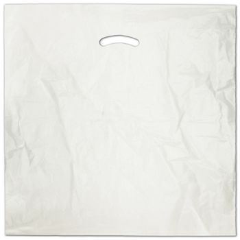 White Die-Cut Handle Bag, 20 x 20