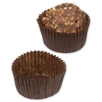 Brown Glassine Candy Cups, 1 x 3/4