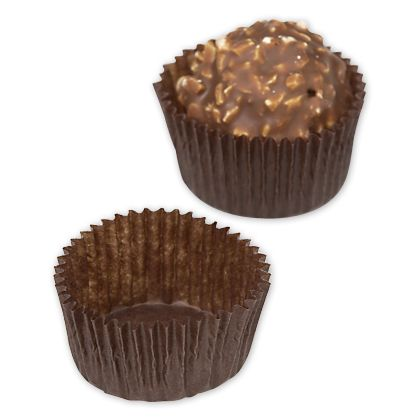 Brown Glassine Candy Cups, 1 x 3/4""