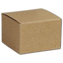 "Kraft One-Piece Gift Boxes, 3 x 3 x 2"""