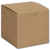 "Kraft One-Piece Gift Boxes, 3 x 3 x 3"""